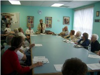 Senior center club meeting